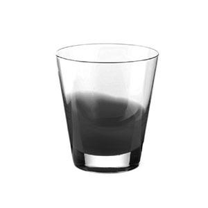 Bicchieri Vino diametro 8.5xh9 cm - 220 cc Gocce in vetro cristallino adatto alla lavastoviglie 6 pezzi Grigio