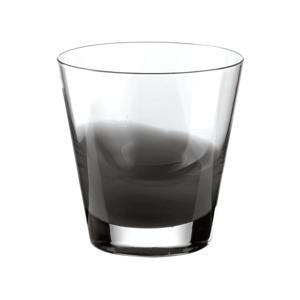 Bicchieri Acqua diametro 9xh10 cm - 320 cc Gocce in vetro cristallino Grigio 6 pezzi