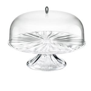 Alzata, tortiera grande con campana diametro 33.4xh26.6 cm AQUA Trasparente