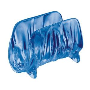 Portatovaglioli AQUA 16x8xh11 cm in materiale plastico trasparente colorato Blu Mediterraneo