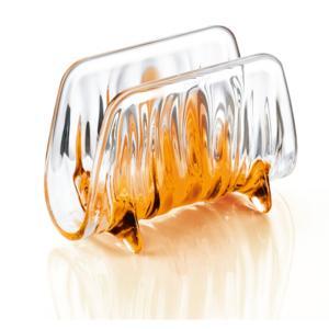 Portatovaglioli IRIS 16x8xh11 cm in materiale plastico Arancio Trasparente