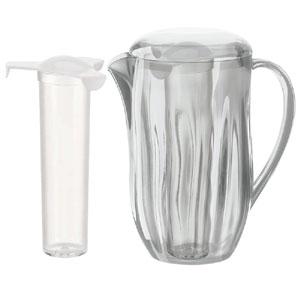 Caraffa refrigerante con coperchio diametro 13x21xh24 cm - 1700 cc AQUA il bulbo si puo inserire in frigo o riempire di ghiaccio