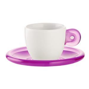 Tazzine caffè e piatto Gocce 6pz Glicine