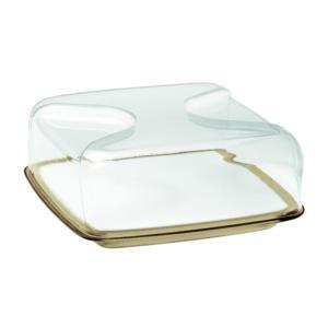 Copriformaggio quadrato 25.5x25.5xh11.5 cm Gocce vassoio tagliere in porcellana bianca Sabbia