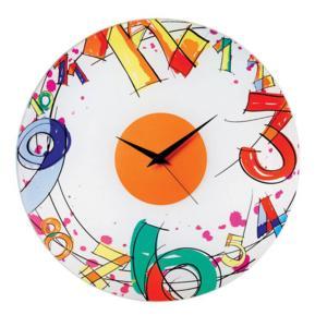 Orologio da Parete Number diametro 38 realizzato in vetro colorato