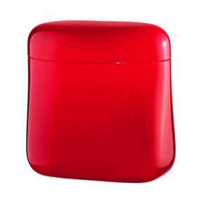 Barattolo da Caffe' 250 gr 14x8,5xh14,5 cm 700 cc tappo chiusura ermetica Colore Rosso Trasparente