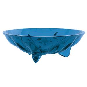 Ciotola Snack diametro 15xh4 cm - 250 cc AQUA in materiale plastico trasparente Blu Mediterraneo