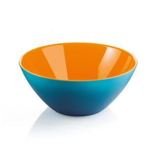 Ciotole contenitore Bicolore Medio 20xh8.5 cm - 1150 cc My Fusion Azzurro bianco Arancio
