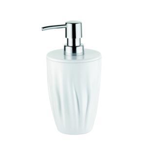 Dosasapone in acrilico trasparente Wave Ø9 x h18 cm bagno Bianco