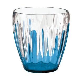 Vaso D'arredo contenitore Multiuso in metacrilato SPLASH 22xh23,5 cm- 5500 cc Blu Chiaro