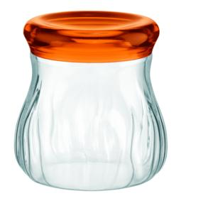 Barattolo in Plastica Soffiato Medio Ø13.5xh16 cm - 1200cc AQUA Arancio trasparente