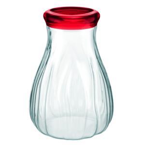 Barattolo In Plastica Soffiato Grande Ø15xh20 cm - 1600cc AQUA Rosso Trasparente