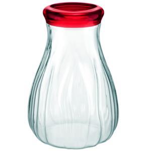 Barattolo in Plastica Soffiato Alto Ø17.5xh24 cm - 2500cc AQUA rosso Trasparente
