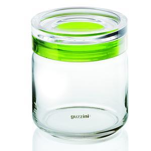 Barattolo in vetro Ø 12xh13,5 cm - 750cc My Kitchen con tappo salvaroma in plastica Verde