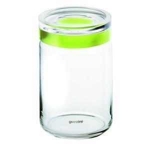 Barattolo in vetro XL Ø 12xh22.5 cm - 1500cc Latina con tappo salvaroma in plastica Verde Mela