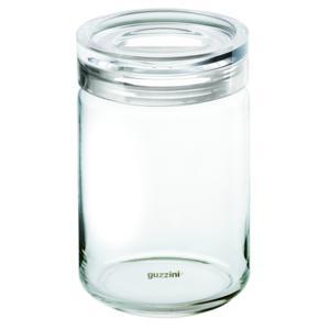 Barattolo in vetro XL Ø 12xh22.5 cm - 1500cc Latina con tappo salvaroma in plastica Trasparente
