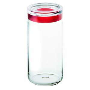 Barattolo in vetro per Spaghetti XXL Large diametro 12xh32 cm - 1900cc con tappo salvaroma rosso