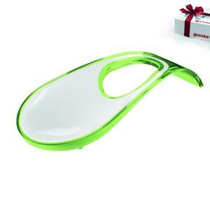 Poggiamestolo bicolore 24x11xh4,5 cm Verde trasparente guzzini