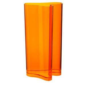 Portaombrelli Vaso D'arredo 32x24.7xh60 cm Nuvola in metacrilato Arancio Trasparente