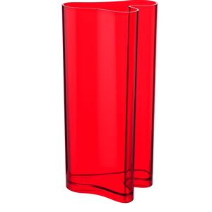 Portaombrelli Vaso D'arredo 32x24.7xh60 cm Nuvola in metacrilato Rosso trasparente