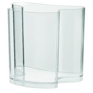 Portariviste Vaso d'Arredo 32x22.8xh31 cm ISOLA in metacrilato trasparente