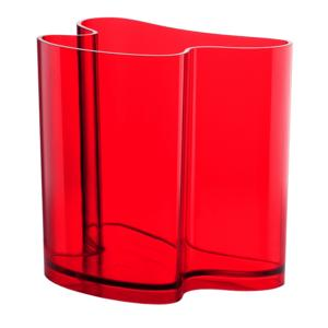 Portariviste Vaso D'Arredo ISOLA 32x22.8xh31 cm in metacrilato trasparente Rosso