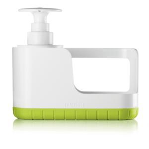 Organizzatore per lavello con dosasapone TIDY&CLEAN + push e soap 'MY KITCHEN' colore verde