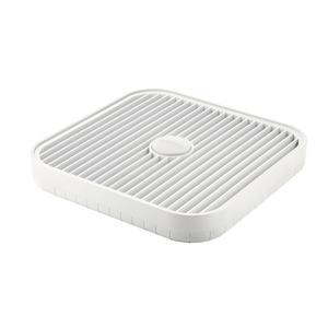 Scolapiatti Scolatutto Flat&Drain 36x36xh5 cm salva spazio bianco