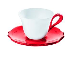 Tazzine da Caffe Set 6 Rosso Trasparente Belle Epoque