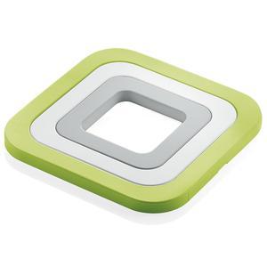 Sottopentola 3in1 incastrabili in silicone 15x15x h 1 cm. colore verde