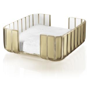 Portatovaglioli GRACE 20x20xh10 cm in materiale plastico Trasparente Sabbia