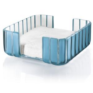 Portatovaglioli GRACE 20x20xh10 cm in materiale plastico trasparente Azzurro Mare