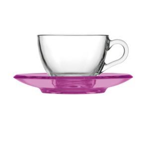 Tazza da cappuccino thè 15xh7 cm - 238 cc con piattino in san Glicine