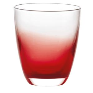 Bicchiere in Vetro bicolore Grace Ø9xh10 cm - 300cc pezzi Colore Rosso Confezione 6 Pezzi