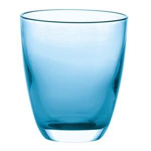 Bicchiere in Vetro bicolore Grace Ø9xh10 cm - 300cc pezzi Colore Azzurro Mare Confezione 6 Pezzi