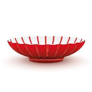 Centrotavola Fruttiera con Base 37,5x30,5xh9 cm - Grace in SMMA Rosso