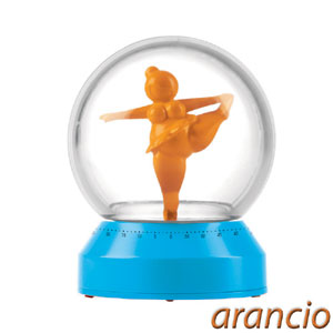 Timer in ABS 8x11cm Miss Spinny base colore arancio