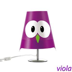 Lampada da tavolo LUCIGNOLO 20xh30 cm colore viola