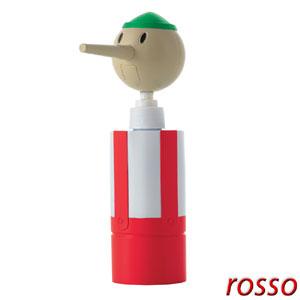 Dosasapone Pino in polipropilene 10,5x6,5xh24 cm Rosso
