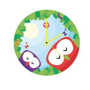 Orologio da parete per bambini in vetro colorato Dreaming Ø35