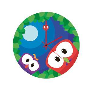 Orologio da parete per bambini in vetro colorato UP Ø35