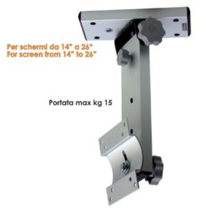 Staffa porta tv per camper o imbarcazioni W1 reclinabile da soffitto con base rotante per tv LCD/LED da 14