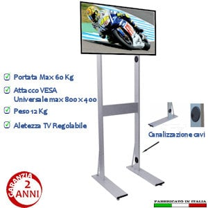 Piantane tv in supporti e mobili tv stilcasa net - Piantana porta tv ...
