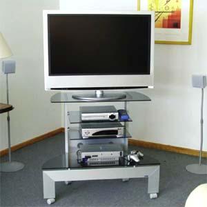 Porta Tv Lcd Vetro.Porta Tv Prisma 70 In Alluminio Anodizzato Per Plasma Da 26 A 32
