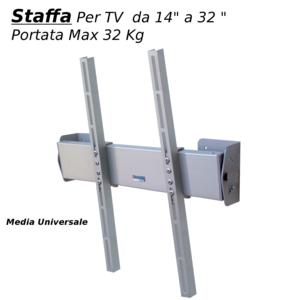 Staffa a parete inclinabile per TV DA 14 a 42 pollici compatibile vesa max 400x400 portata max 35 kg