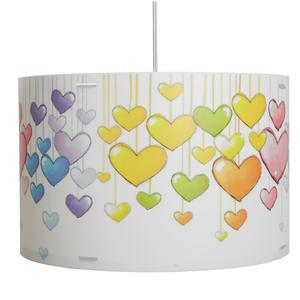 Lampada a sospensione per camerette CYLINDER Ø 45xh 29 cm in multicolor CUORI