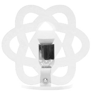 Lampada da tavolo CLEA 23x15xh23cm in metacrilato trasparente Emporium Bianco Satinato