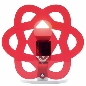 Lampada da tavolo CLEA 23x15xh23cm in metacrilato trasparente Emporium Rosso Trasparente