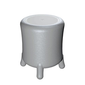 Portabiancheria Sgabello diametro 45xh49 cm BONGO in polietilene Grigio