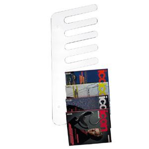 Porta Riviste da parete Pettine 38xh98x3 cm cm in metacrilato Emporium Trasparente